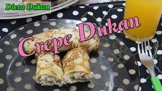 Dieta Dukan -Receita De Crepe E Recheio De Frango - Dica Para Almoço