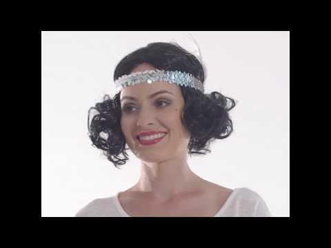 Frauenperücke Charlston mit Kopfband | dressforfun
