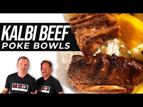 Poke Bowl with Kalbi Beef or Chicken   Hawaiian Style  
