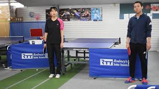 PUPP Table Tennis- College Competition skills Forehand Dropshot against Backspin
