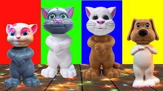 Wrong Heads Talking Tom Finger Family Song Nursery Rhymes for Kids Funny videos Collection | LidoTV