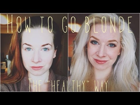 """Video How to go Blonde ❋ The """"Healthy"""" Way"""