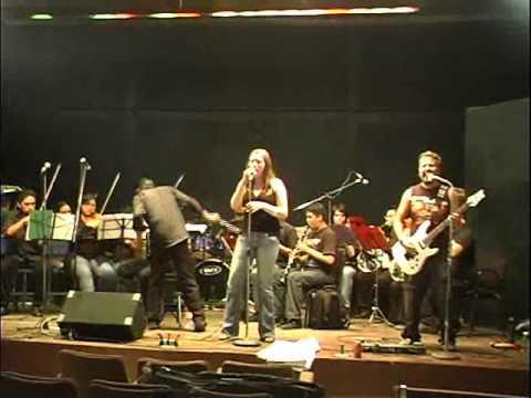 Hada de Beng en ensayo previo con la Orquesta Inferno...!!