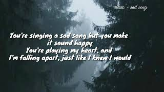 Alesso   Sad Song Ft TINI (lyric Video)