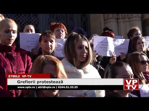 Grefierii protestează