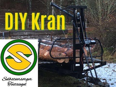 DIY Kran auf einen Anhänger bauen