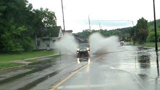 Heavy Rains Result In Flooding Across Highway 141, Niagara, WI    Jason Asselin