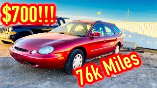 I won a 76K Mile 1996 Ford Taurus Station Wagon from IAA for $700 - Run and Drive?