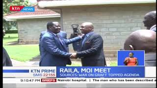 Former Prime Minister Raila Odinga holds private talks with Baringo Senator Gideon Moi