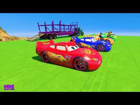 Aprendendo Relâmpago de Cor McQueen Disney Carros 3 Desenhos Animados BEBE CARTOONS