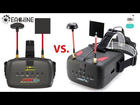 Eachine VR D2 Pro VS Older Version - DVR Side By Side Comparison
