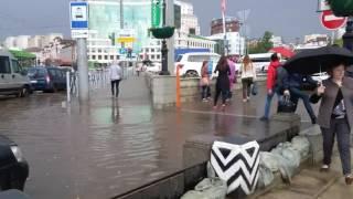 Затопления после небольшого ливня в Казани, 20.06.2017 года