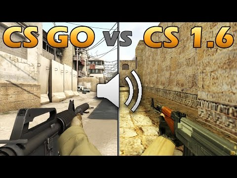 CS GO vs CS 1.6 ЗВУКИ ОРУЖИЯ | WEAPON SOUND COMPRASION