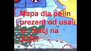 Usa i st. bracia NARYSOWALI mapę Polin 2030 nowa stolica w Mińsku