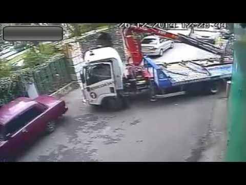 Страшные последствия неправильной парковки