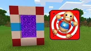 How To Make a PORTAL to KICK THE BUDDY Dimension in Minecraft PE (Kick the Buddy Portal in MCPE)