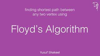 Floyd Warshall Algorithm - Graph - DYclassroom | Have fun