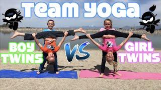 Boy Twins vs Girl Twins - Team Yoga