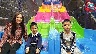 น้องบีม   สไลเดอร์ความเร็วสูง เล่นสวนสนุก ฮาร์เบอร์แลนด์ แฟชั่นไอส์แลนด์ Indoor Playground