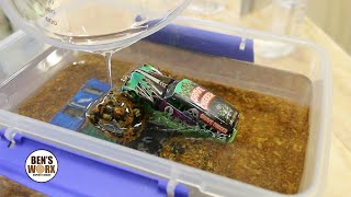 Making a Grave Digger Diorama - Monster Jam Resin Art