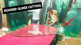 12 mm Glass Round Cutting For Table | Design Table Glass Cutting   RK Thai Aluminium Fabricators