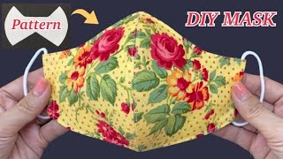 Diy Breathable Face Mask Easy Pattern Sewing Tutorial | How To Make Fabric Face Mask | P&K Handmade