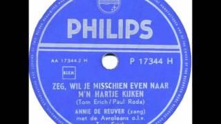 Annie de Reuver & Avroleans olv Tom Erich   Zeg wil je misschien naar mijn hartje kijken1954