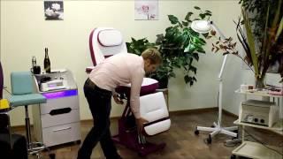 Педикюрное косметологическое кресло «Татьяна» (гидравлическое) (высота 670 - 850мм) от компании ФОРМУЛА САЛОНА - видео