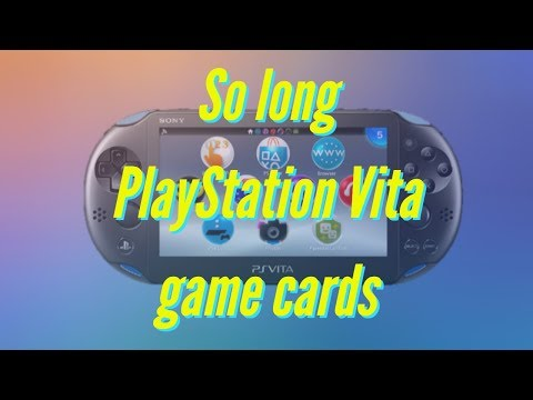 Sony is pulling the cord on all PlayStation Vita, physical game cards