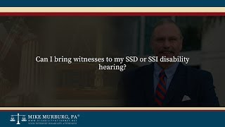 Video thumbnail: Can I bring witnesses to my SSD or SSI disability hearing?