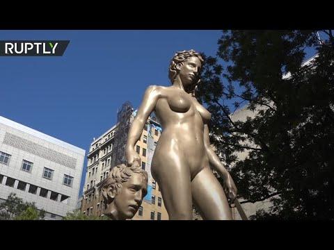 العرب اليوم - شاهد: تمثال يرمز لحركة