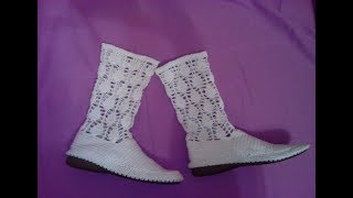 How to crochet boots free pattern