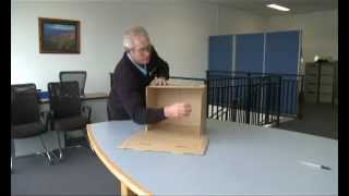 How to fold an archive box