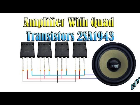 Powerful Bass Amplifier Using Triple 13007 Transistors From