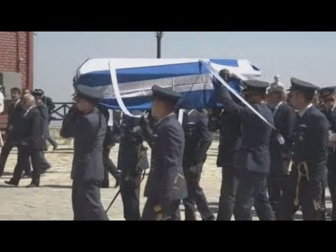 Κηδεία του Σμηναγού Γ. Μπαλταδώρου στο Μορφοβούνι Καρδίτσας