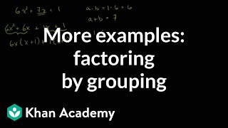 Factor by Grouping and Factoring Completely