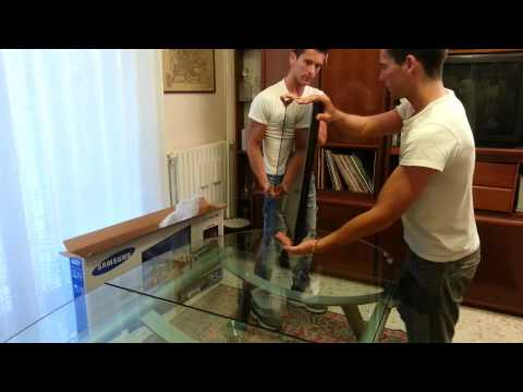 unboxing unpacking samsung ue39f5000 tv led 39 pollici e prima accensione first power Italia