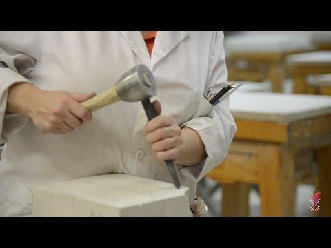 Utilizacion de la herramienta en talla en piedra
