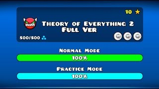 THEORY OF EVERYTHING 2 FULL VERSION BY GD MICHTOP GEOMETRY DASH 2.11
