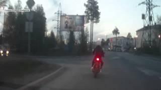 Погоня за мотоциклистом.