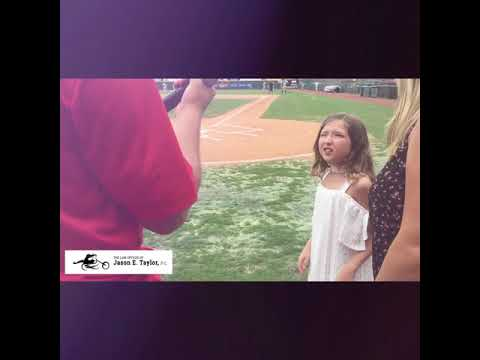 Oh Say Can You Sing Contest Winner Sings National Anthem at L.P. Fran's Stadium - YouTube Video