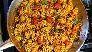 Quick Bacon Tomato Pasta Sauce Recipe | ChrisDeLaRosa.com
