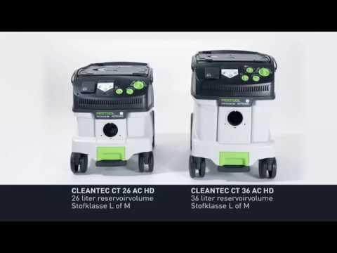 Festool CLEANTEC CTL 26 E AC HD 230V mobiele nat-/droogzuiger
