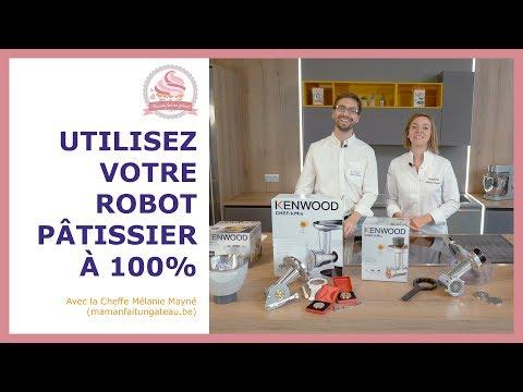 Découvrez tous les accessoires disponibles pour votre robot pâtissier Kenwood
