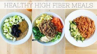HIGH FIBER DIET | Full Day of Eating Plant-Based Meals