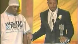 Al Kapone  Winning Critics Choice Award For Hustle & Flow w/ Terrance Howard
