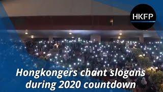 Hongkongers chant slogans during 2020 New Year countdown