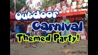 PARTY IDEAS FOR MALE Or Boy CELEBRATOR. Carnival Party With Gamebooths And Party Foodcarts