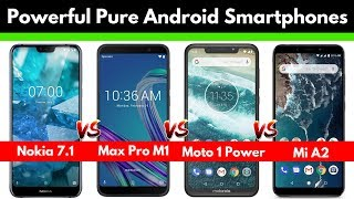 Nokia 7.1 vs Asus Zenfone Max Pro M1 vs Moto One Power vs Mi A2 | Quick Specification Comparison