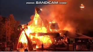 Пожар в кафе «Сахара», располагающимся на 56-м км МКАД е